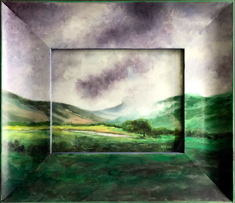 Mernie Buchanan, Napa Valley Rain, Fine Art Painting, Woodstock-New Paltz Art & Crafts Fair