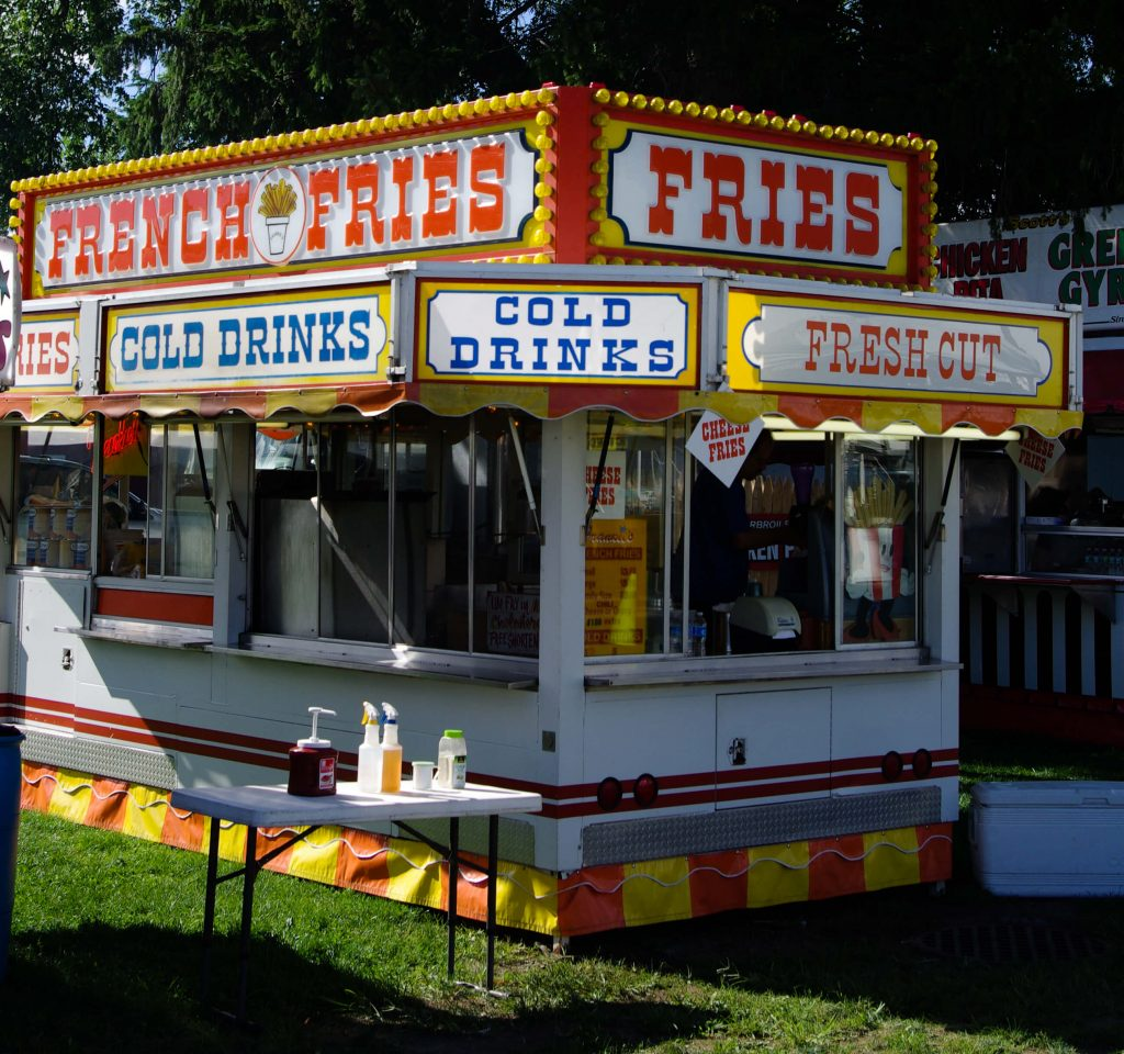 French Fries Stand at the Woodstock New Paltz Art and Crafts Fair