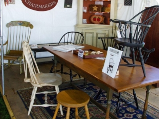 Handmade Country Chairs at the Woodstock-New Paltz Art & Crafts Fair
