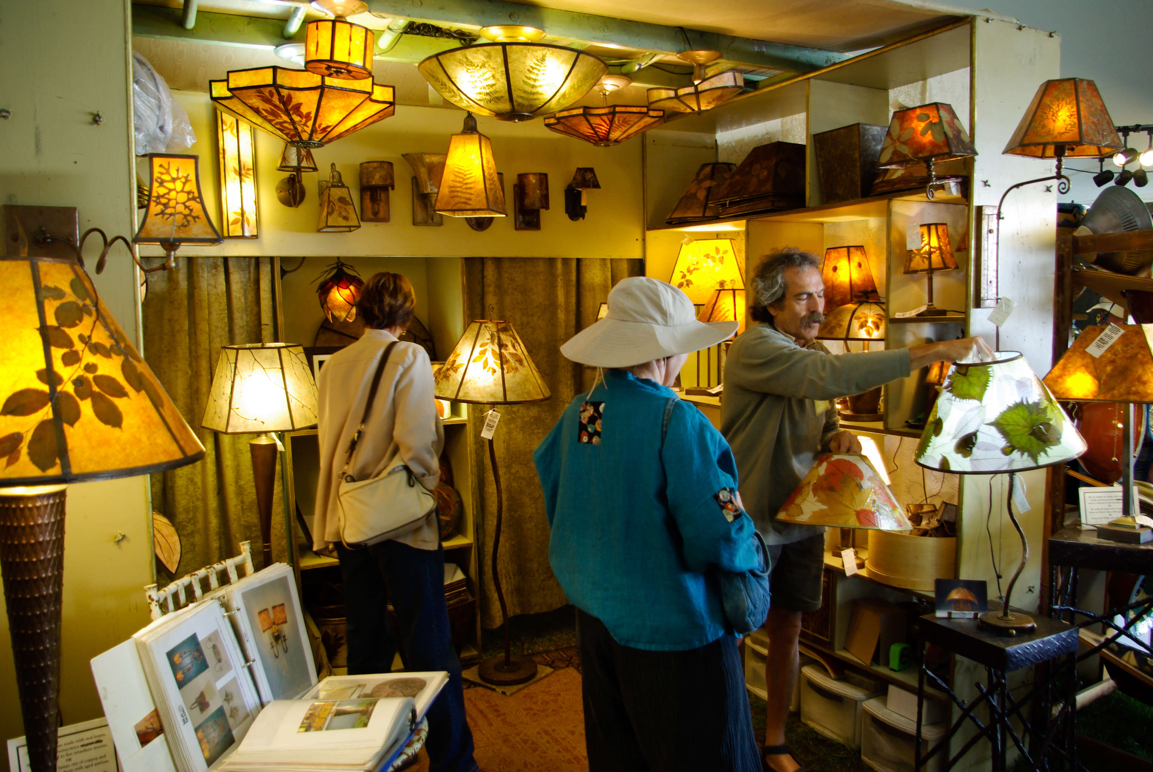 Handmade Lighting and Lamps at the Woodstock-New Paltz Art & Crafts Fair