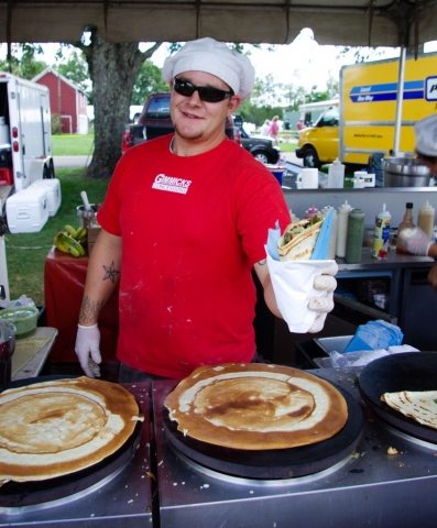 Crepes at the Woodstock New Paltz Art & Crafts Fair