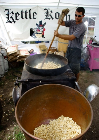 Kettle Corn at the Woodstock-New Paltz Art & Crafts Fair