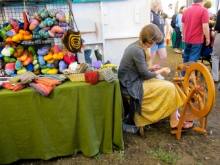 fiber art demonstration, Woodstock-New Platz Art & Crafts Fair