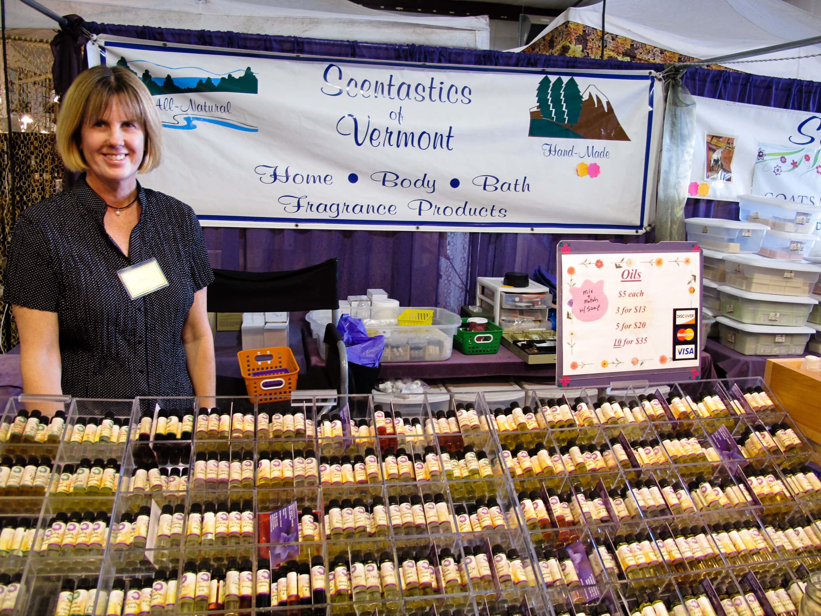 Scentastics of Vermont, Handmade essential oils, Woodstock-New Platz Art & Crafts Fair