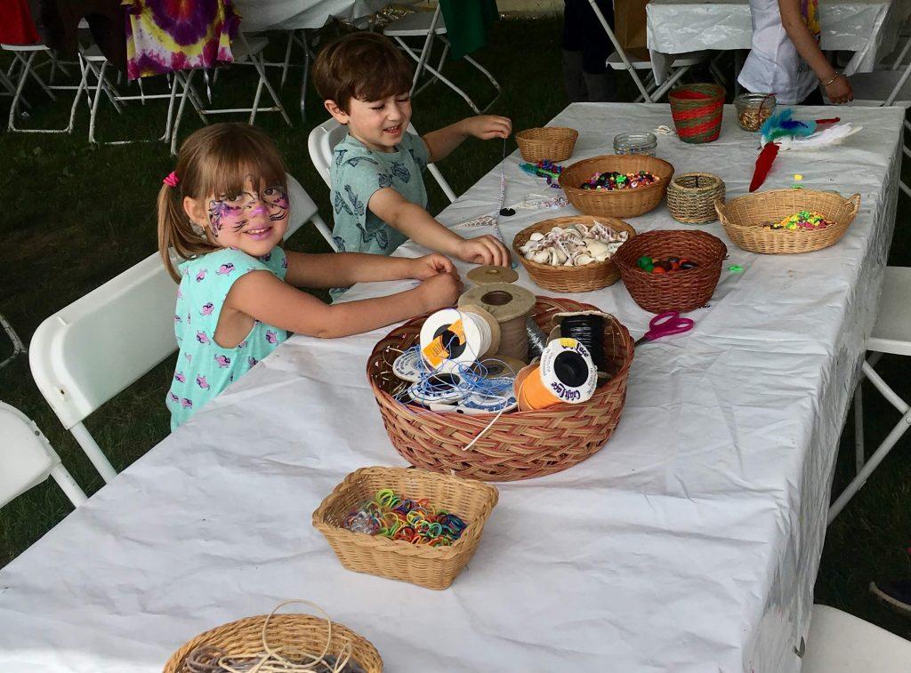 children's tent art and crafts Woodstock New Paltz Art & Crafts Fair