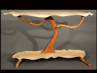 Scott Deming, Curly Maple & Cherry Tree Table, Woodstock-New Paltz Art & Crafts Fair