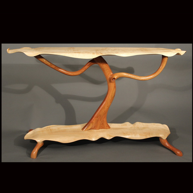 Scott Deming, Curly Maple & Cherry Tree Table, Woodstock-New Paltz Art & Crafts Fair