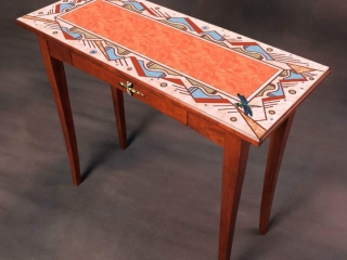 Jeff Nelson, Earthsong Console Table Woodwork Woodstock-New Paltz Art & Crafts Fair