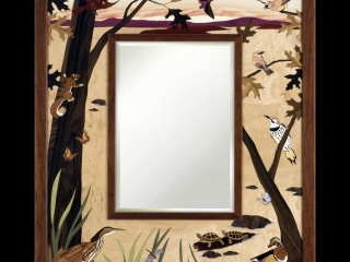Jeff Nelson, Riverview Mirror, Woodwork at the Woodstock-New Paltz Art & Crafts Fair