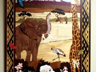 Jeff Nelson, Safari, Woodwork at the Woodstock-New Paltz Art & Crafts Fair