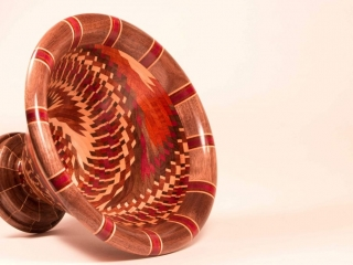 Tree to Dreams by Tyler Lucas: Spiral Bowl, handcrafted wood art, wooden bowl handmade
