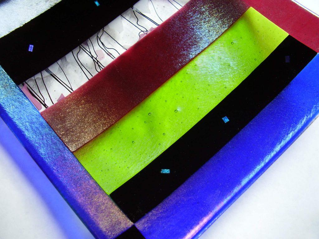 RoseAnna Stokes, handmade glass platter, Woodstock-New Paltz Art & Craft Fair