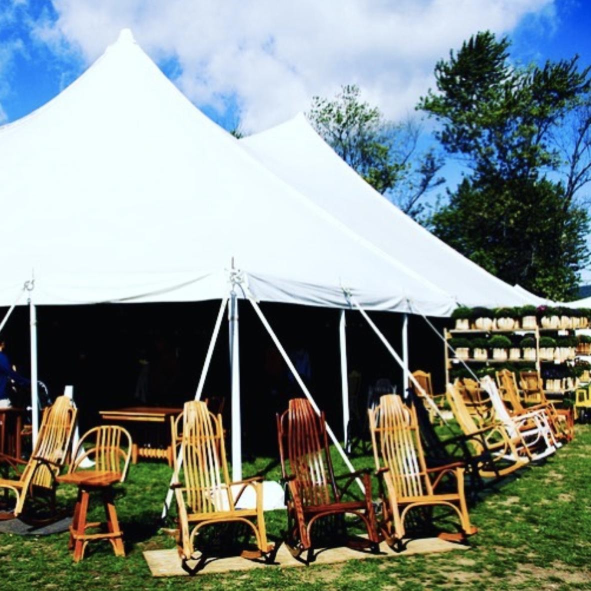 John Finnan Handmade Adirondack Chairs at the Woodstock-New Paltz Art & Crafts Fair