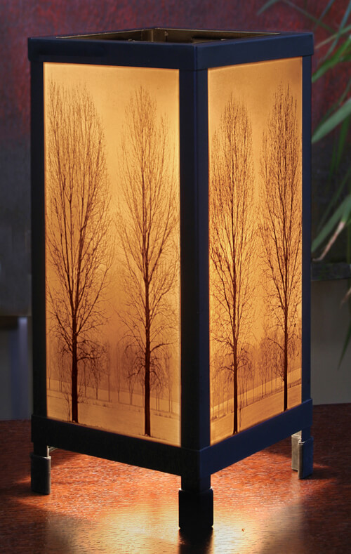 Solitude Porcelain Lithophane Luminaire Lamp