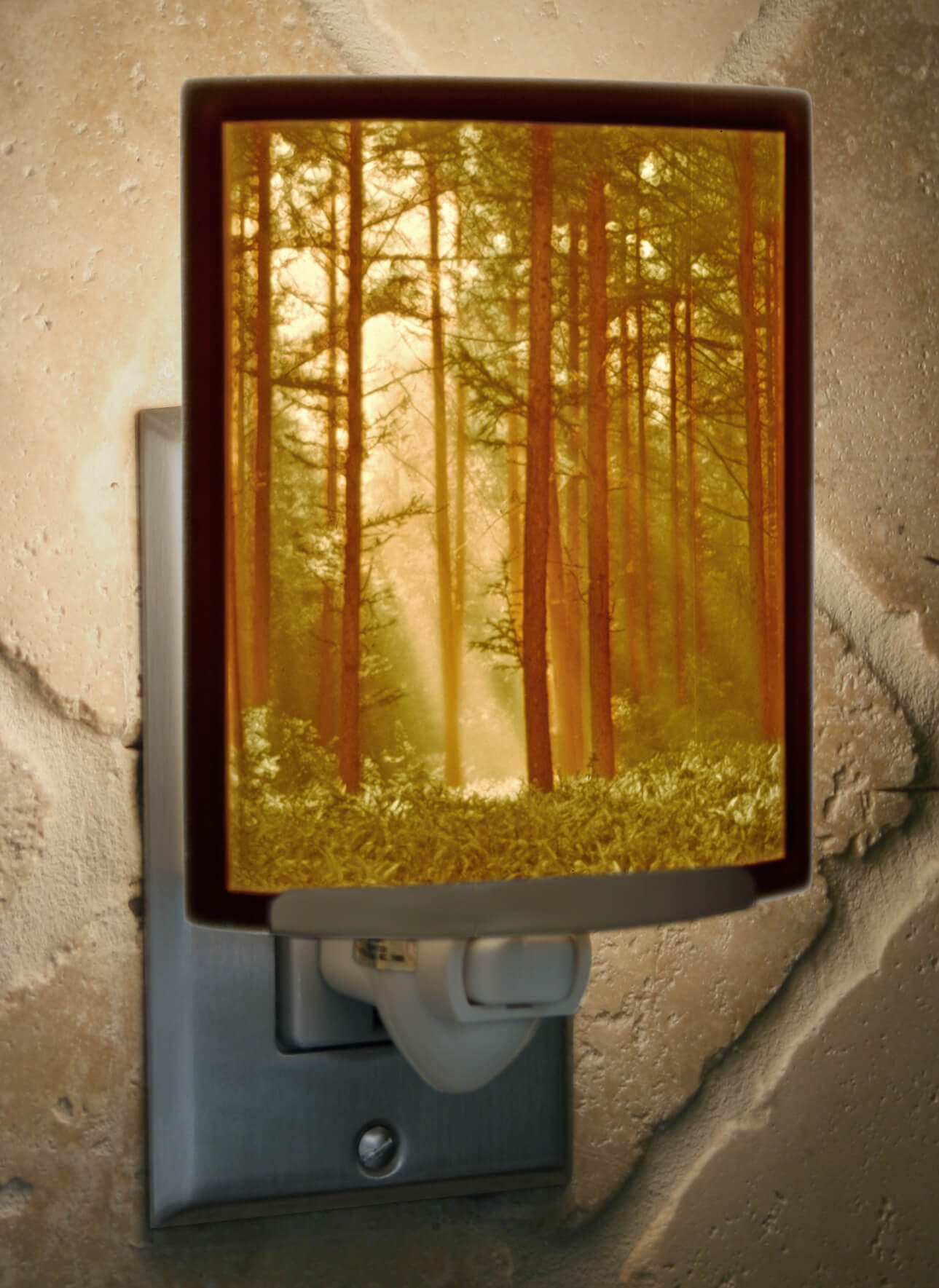 Woodland Sunbeams Porcelain Lithophane Night Light