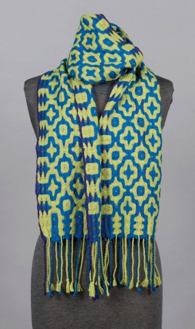 Firecrow Handwovens, Kathy Litchfield, Fiber, double weave scarf
