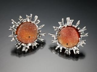 Hudson Valley Goldsmith earrings Woodstock New Paltz Art & Crafts Fair