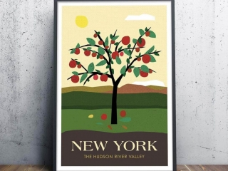 Victor Coreas, Bold Version, Travel Inspired Poster, Woodstock-New Paltz Art & Crafts Fair