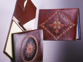 Brad Barnes, handcrafted leather, Woodstock-new paltz Art & Crafts Fair