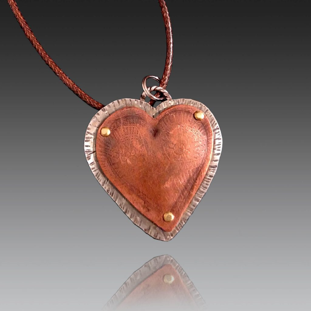 Robin Miller Artisan Jewelry, copper heart necklace, Woodstock-new paltz art & crafts fair
