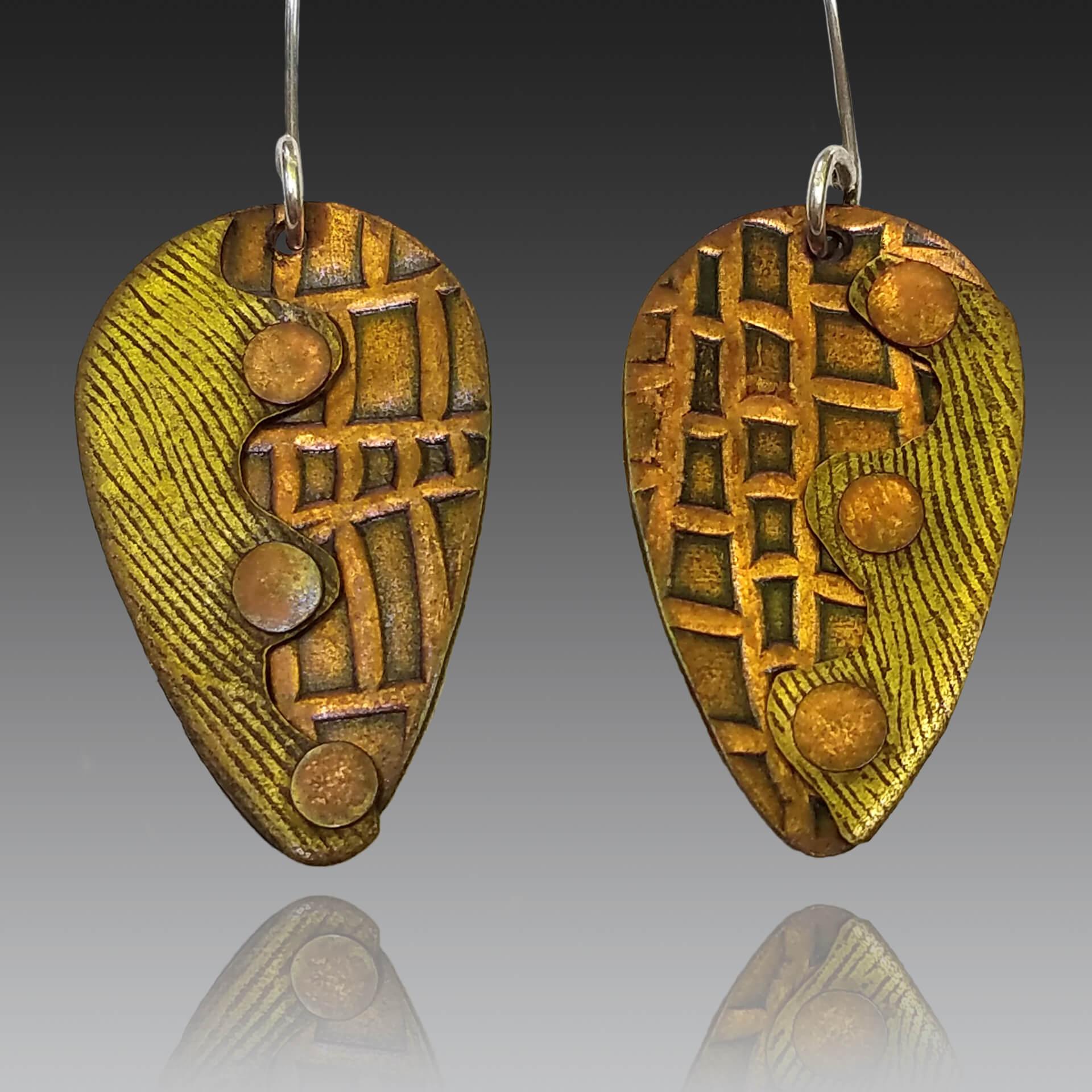 Robin Miller Artisan Jewelry, mixed metal earrings, Woodstock-new paltz art & crafts fair