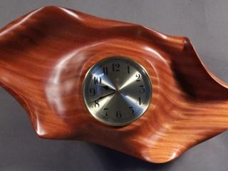 Scott Deming, Sapele Wall Clock Woodstock-New Paltz Art & Crafts Fair