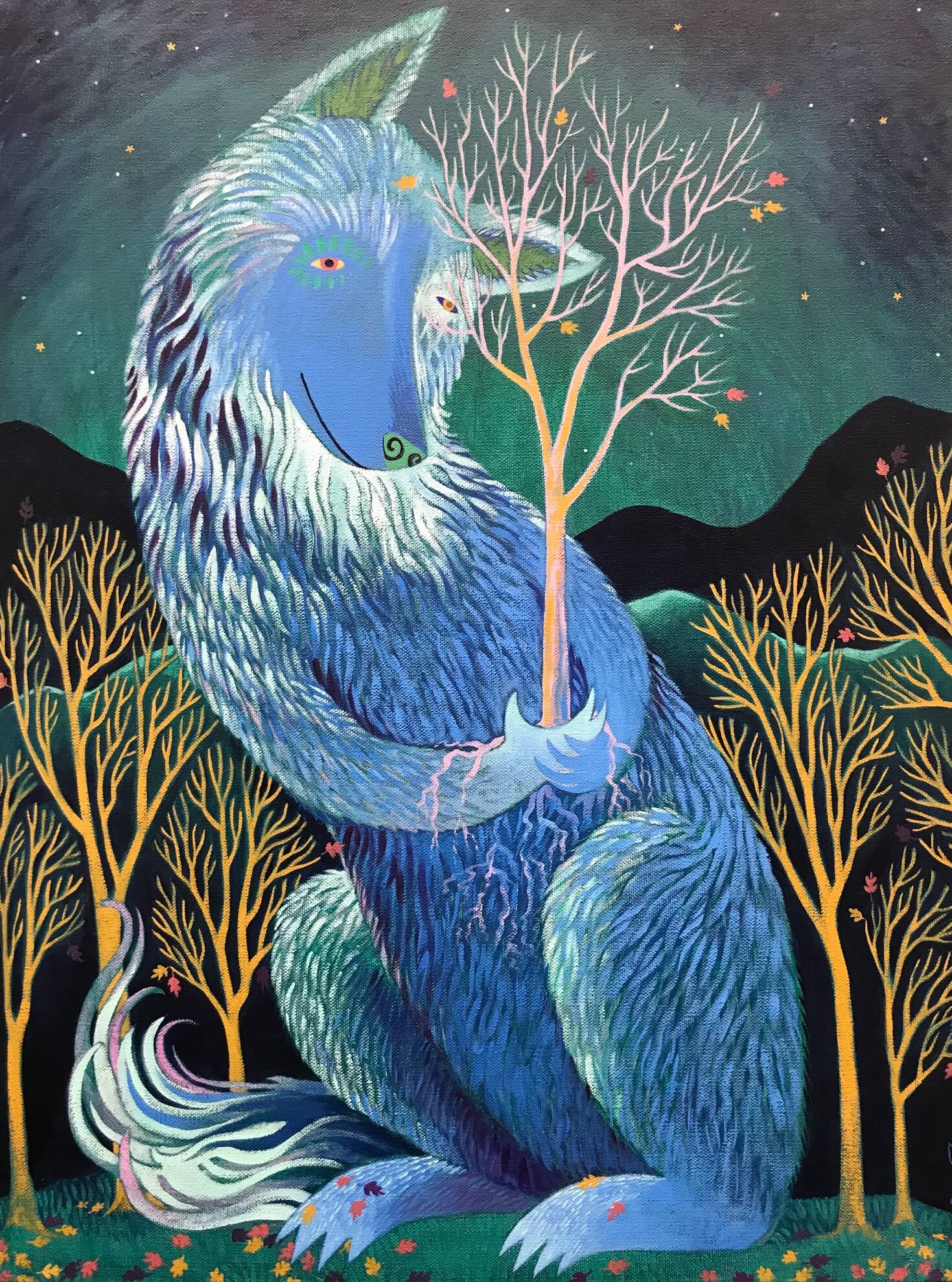 Elaine Thompson, Lunar Love, Painting, Fine Art at the Woodstock-New Paltz Art & Crafts Fair