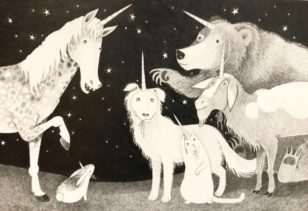 Elaine Thompson, Lunar Love, Painting, Fine Art at the Woodstock-New Paltz Art & Crafts Fair