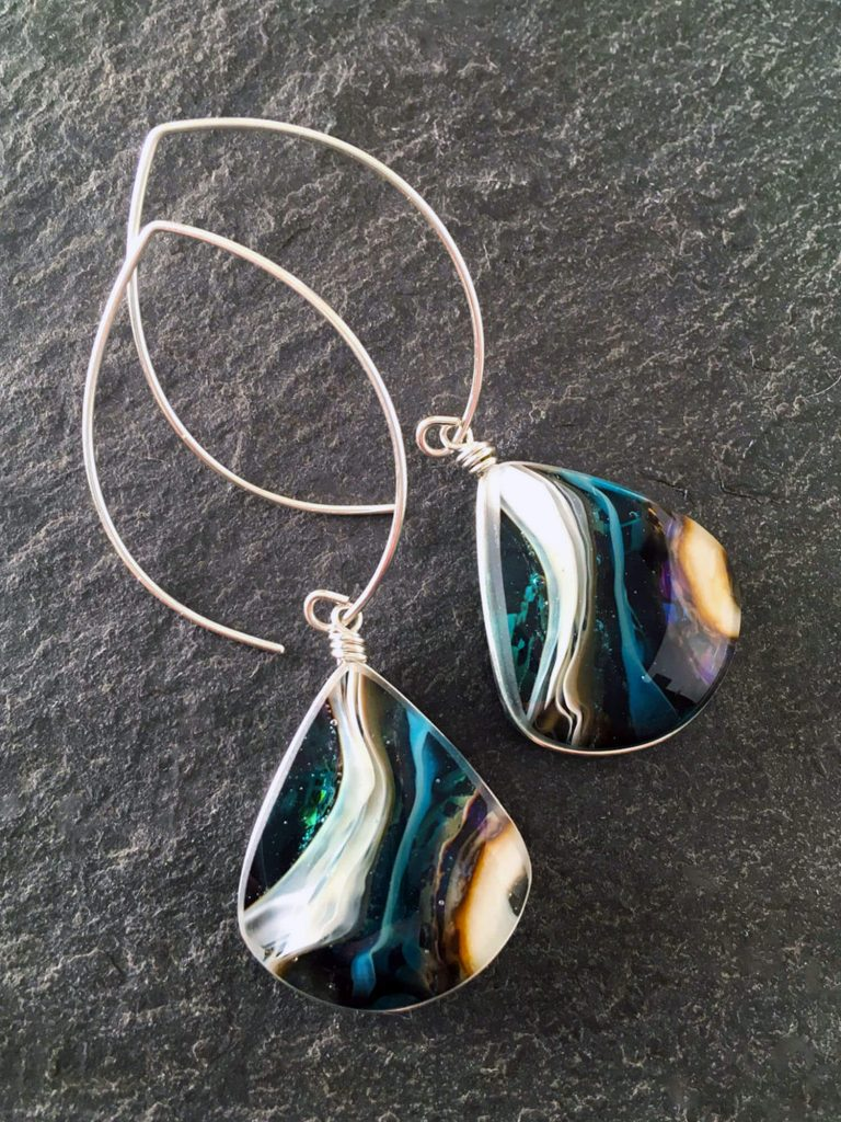 Weathered Heather by Heather Bivens: Shoreline, handcrafted jewelry glass art, nature preserved