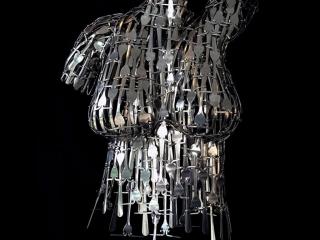 Matthew Bartik, Fork Art, handcrafted metal art bent and welded from forks