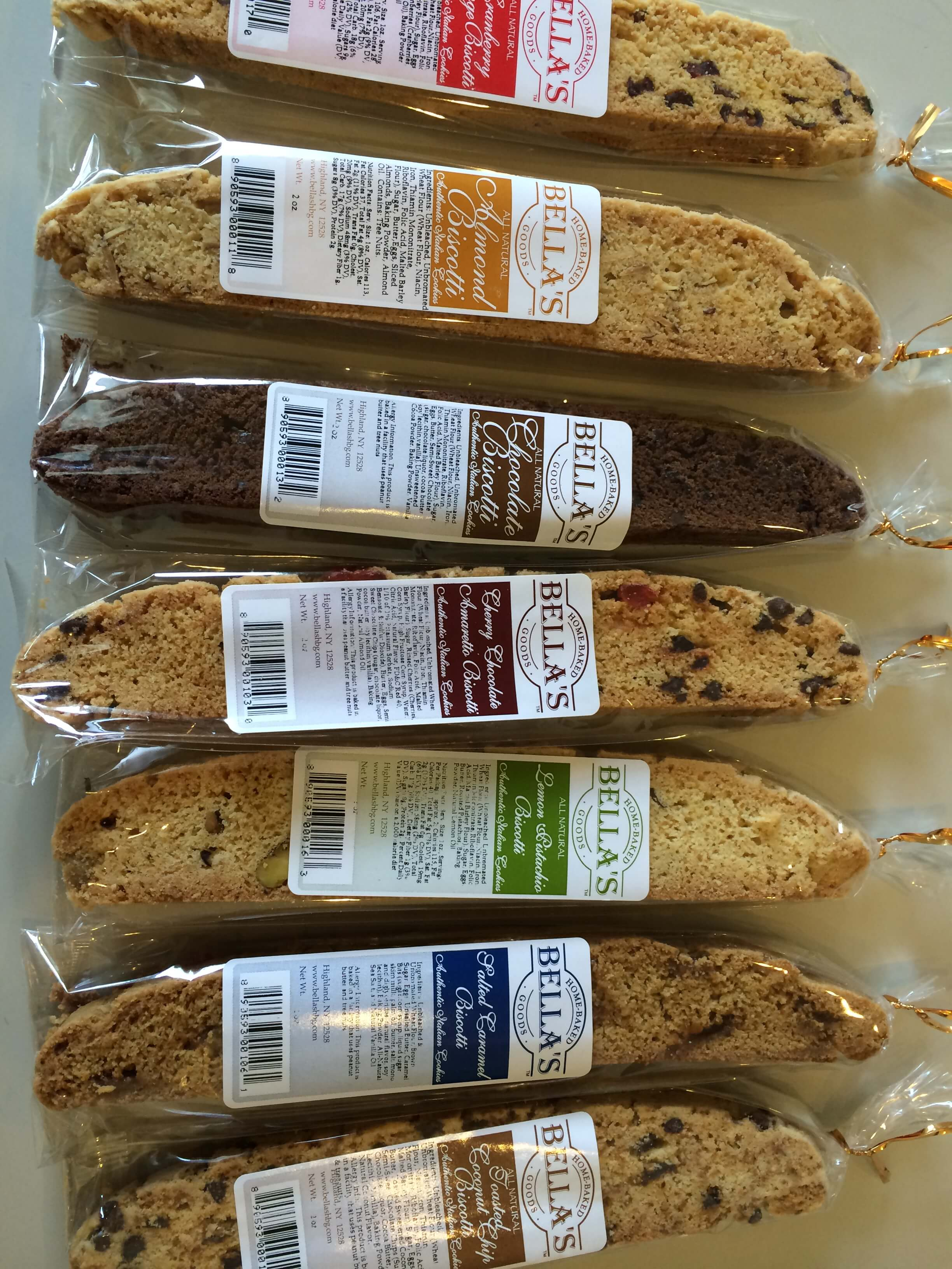 Bella's Home-Baked Goods: Italian Biscotti, caramel, upstate NY specialty dessert foods