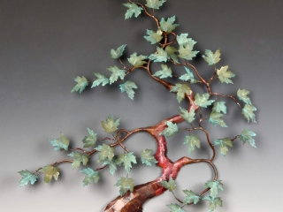 Bovano of Cheshire, Jim & Kevin Flood, Patina Maple, Woodstock-New Paltz Art & Crafts FaIr