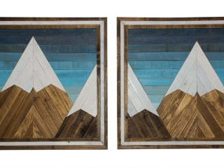 Forested Way by Brian Frerichs: Twilight Mountain wood panels, handmade woodwork, reclaimed wood, shelves, landscapes, woodscapes