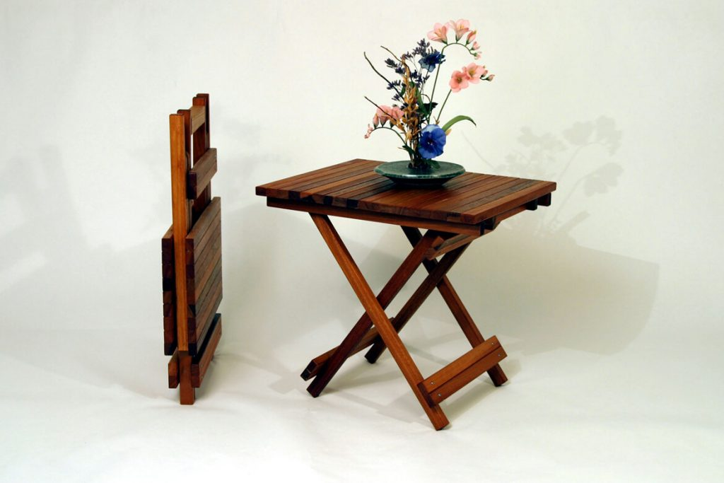 Heartwood Furniture by Daniel Gomes: Cherry Folding Butterfly Table, handmade furniture
