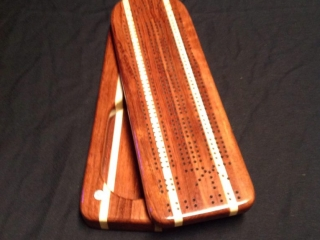 Hanley's Wooden Creations by Scott & Christine Hanley, Cribbage Board, handcrafted wood for the home