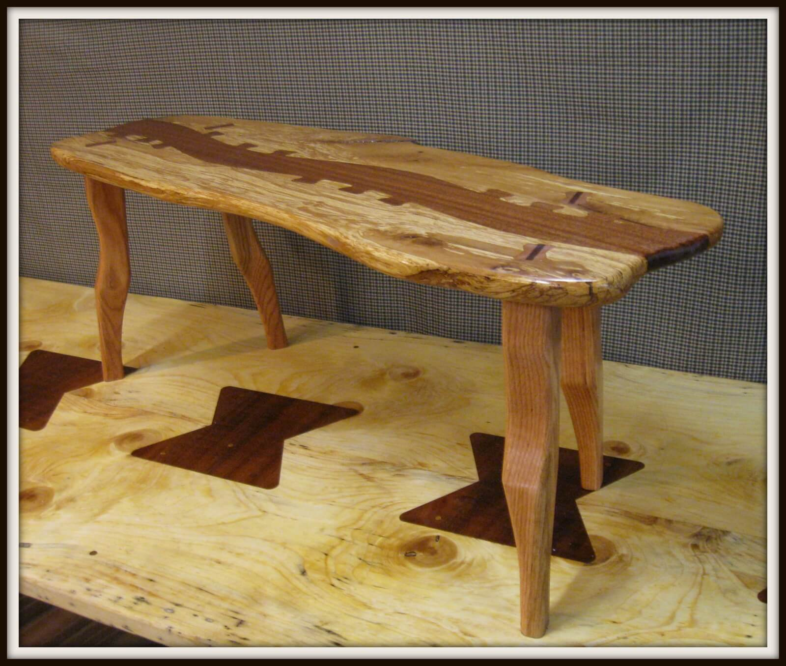 Harnett Designs Woodworking: Maple Live Edge Table, handcrafted furniture