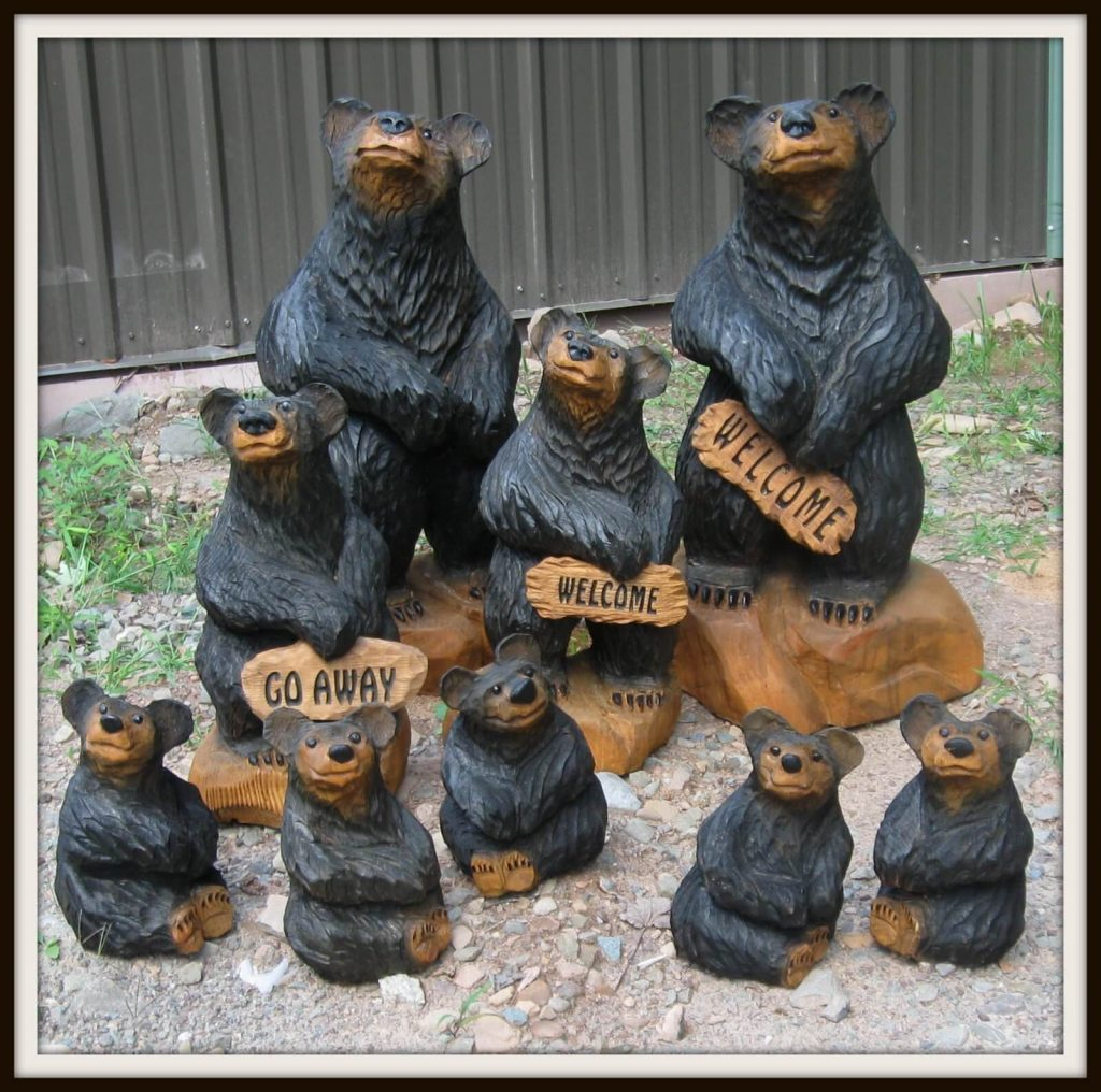 Harnett Designs Woodworking: Maple Live Edge Table, chainsaw art, bears, handcrafted furniture