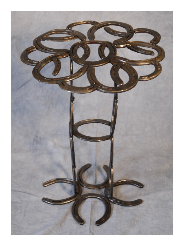 Rusty Old Man, Robin Campanale, Horseshoe Table, Woodstock-New Paltz Art & Crafts Fair, Upcycling