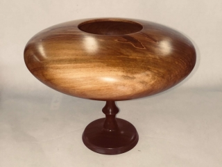 Joseph Botta, Willow Bowl, handcrafted wood at the Woodstock-New Paltz Art & Crafts Fair