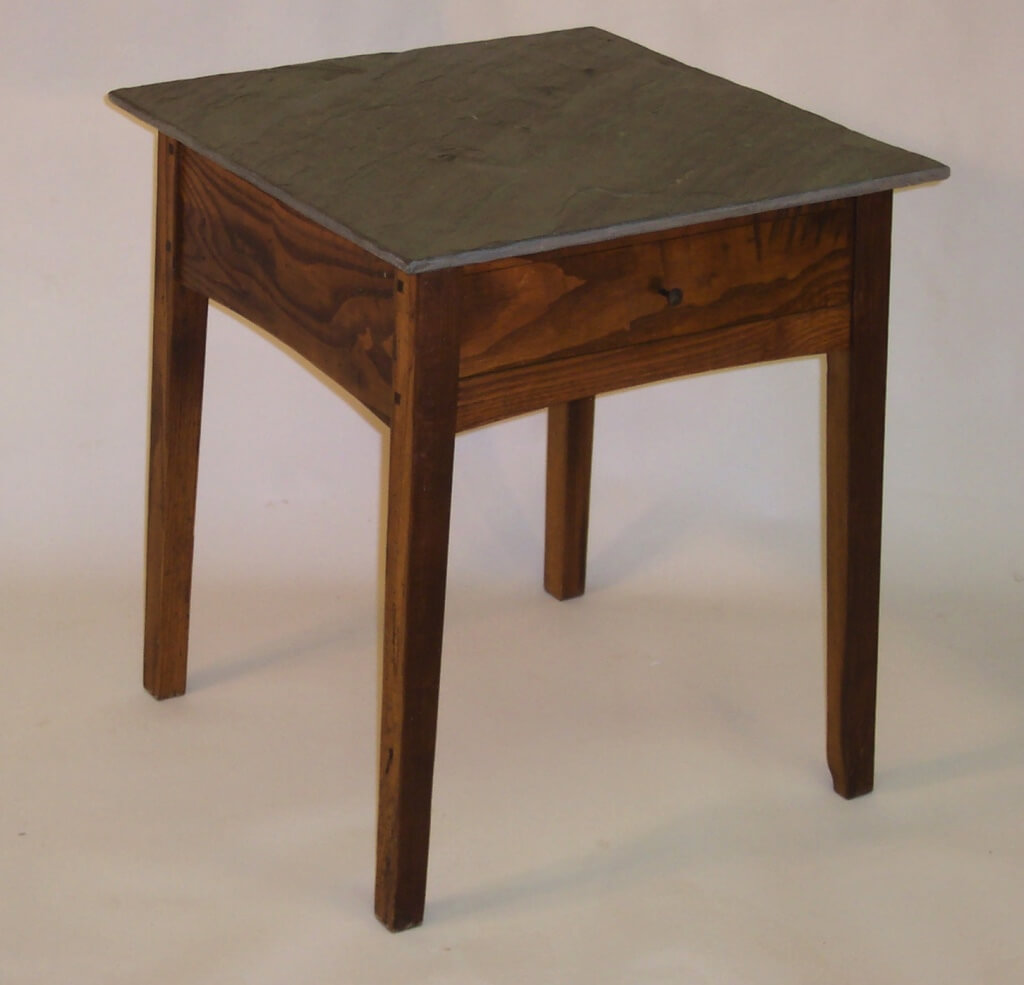 Ken Anderson, Atwood Furniture, Bluestone Top End Table, Sackback Windsor Chair, Handmade Furniture, Woodstock-New Paltz Art & Crafts Fair