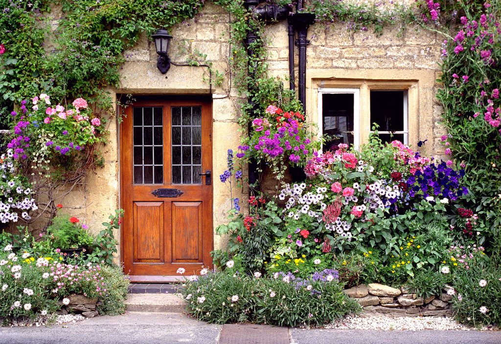 "La Shot Photography by David Maynard, ""Cottage Bouquet"", fine art photography, digital, film, England, rainbow of color"