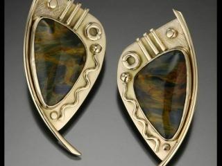 Liz and Ron Jewelry, hand-wrought jewelry, citrine, druzy, gold, semiprecious stones