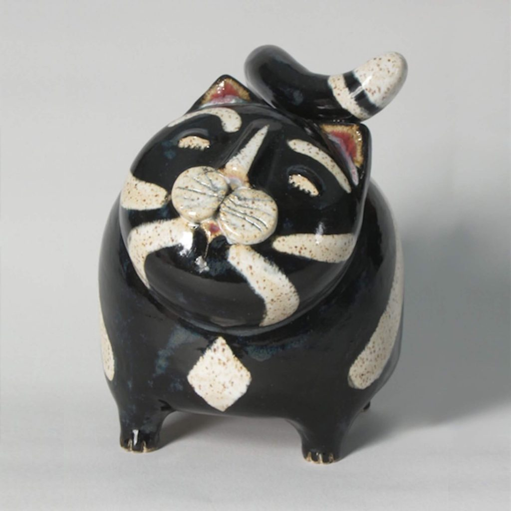 Lukacs Pottery by Mark & Cathy Lukacs: Cat Bank handcrafted pottery and ceramics piggy bank