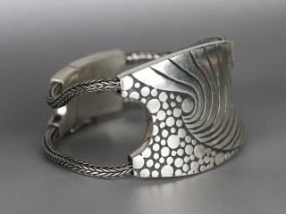 ANNI MALIKI: Foam Bracelet handcrafted jewelry, metalsmith, metalwork, nature inspired jewelry, art show