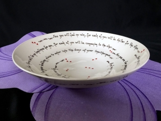Pottery Mountain by Lesley Reich, Apache Wedding Blessing Bowl, hand thrown, handmade porcelain ceramics