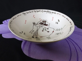 Pottery Mountain by Lesley Reich: Wedding Dancers Bowl, handmade, hand-thrown ceramics