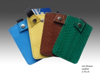Col de Mar Sea Leather Accessories by Lisa Strauss , handcrafted leather, credit card holders