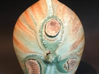 Eileen Sackman Ceramics, handcrafted bud vase, glaze, organic