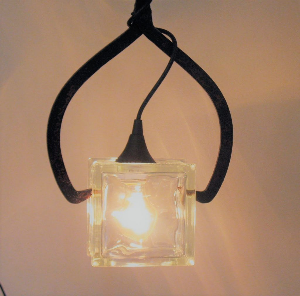 Rusty Old Man, Robin Campanale, Ice Block Lamp, Woodstock-New Paltz Art & Crafts Fair, Upcycling