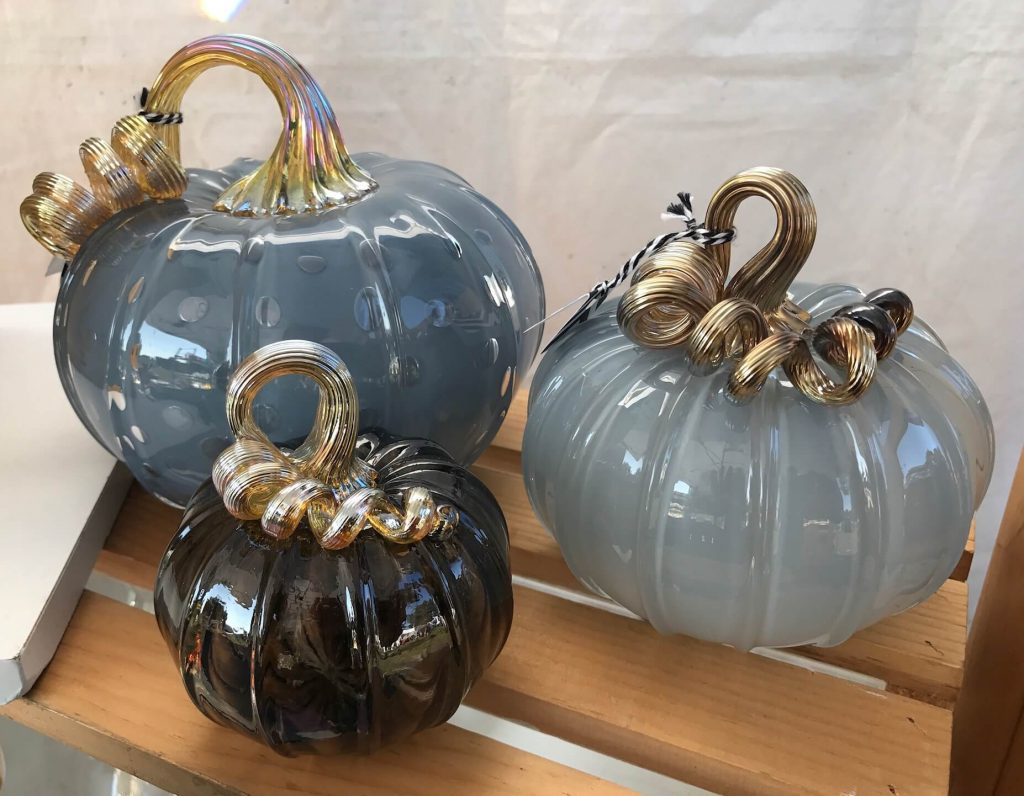 Catherine Ayers Glass: Pumpkins, handmade glass pumpkins, blown glass